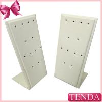 China White Black Leather Metal Wooden Earring Jewellery Display Stands for Jewelry wholesale