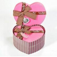 China Heart Shaped Decorative Luxury Recycled Gift Paper Box , Pink Paper Box For Chocolate wholesale