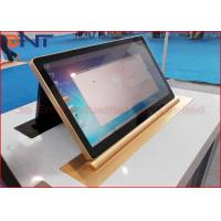 China 45 Degree Tilting Conference LCD Monitor Lift With 15.6 Inch Retractable Screen wholesale