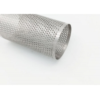 China 3mm Hole 304 SUS PerforatedMetalPipe , Water Filter Tube Welded wholesale