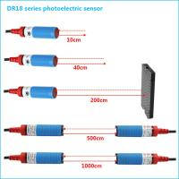 China NPN NO M18 Cylindrical Photoelectric Beam Detector Through Beam Optical Switches wholesale