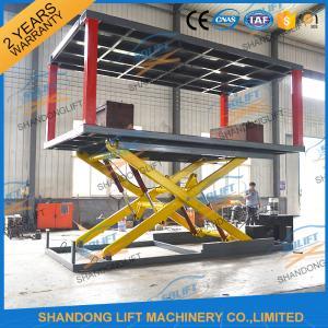Buy cheap type hydraulique de ciseaux de 2T 3m - sous-sol de forme d'ascenseur de stationnement de 2 voitures au niveau du sol from wholesalers
