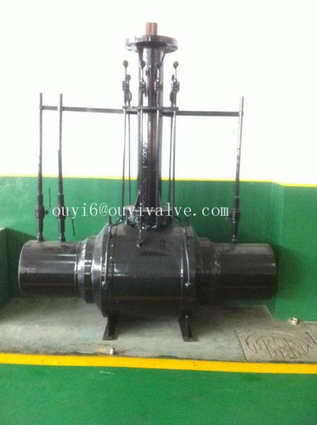 Quality Carbon Steel Pipeline Valve , Anti-corrosion API607 Full Weled Ball Valve for sale