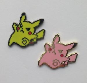 China Lovely Pokemon Pikachu Hard Enamel Pin Badge For Children Gifts Handmade wholesale