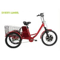 China Pedals Assisted Electric Mobility Scooter , Electric Cargo Trike 36V 350W Motor wholesale