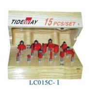 China 15 Set router bit sets with two times grinding rough grinding and finish grinding wholesale