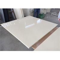 China Pure White Kitchen Quartz Table Top 25.5 Inches Wide With Sink Hole wholesale
