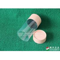 China Customised CMYK Color Paper Tube packaging matt lamination Paper Cosmetic Container With PVC Window wholesale