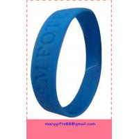 China buy silicone discount bracelets for promotion with low price on sale
