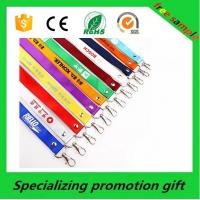 China Polyester / Nylon / Bamboo Leather ID Badge Card Holder With Neck Strap wholesale