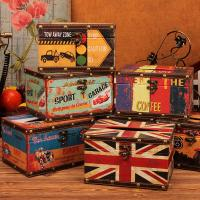 China Vintage UK Square Tissue Box Cover Holder Case Wood Tissue Container Napkin Tissue Box Cover on sale