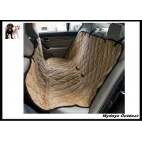 China Waterproof Pet Seat Covers Dark Khaki / Hammock Back Seat Cover For Travel on sale
