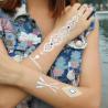 China Flash jewelry tattos metallic tattoo sticker wholesale