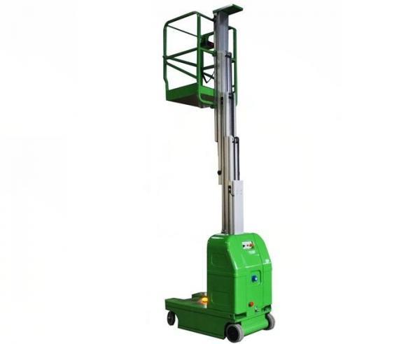 Quality Portable Hydraulic Lift Platform Single Mast Self-Propelled Aerial Work Platform 6m for sale