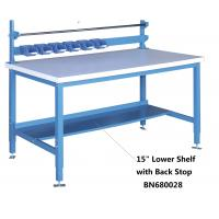 Buy cheap 15 Inch Lower Shelf with Back Stop , Heavy Duty Steel Workbench High Strength from wholesalers