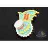 China Full Color Enamel Custom And Stock Metal Lapel Pin Badges Gift Items Imitation Gold Plating wholesale