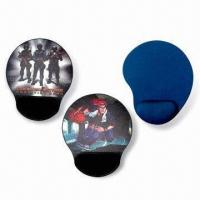 China Mouse Pads with Arm Rest, Made of Neoprene and Cloth, Measures 220 x 180 x 2mm wholesale