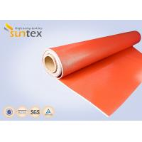 China 0.7 mm Thickness Silicone Coated Fiberglass Cloth For Fire Curtains And Fire Door wholesale