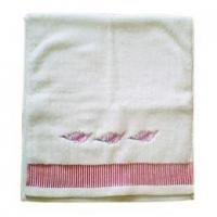 Velour Face Towel With Embroidery Logo (JT-011)