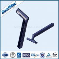 China Smooth Glide Twin Blade Disposable Razor With Comfortable Plastic Handle wholesale