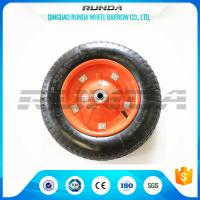 "China Middle Size Heavy Duty Rubber Wheels 13""X3.25-8 Solid Steel Rim With Screws wholesale"