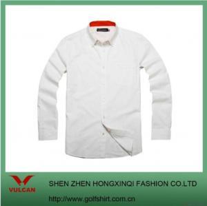 China White Long Sleeve Men Dress Shirts wholesale