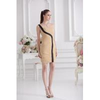 China Custom Chic One Shoulder Plus Size Cocktail Party Dresses with Chiffon A Line Style wholesale