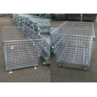China Heavy Duty Mesh Storage Cage Folding Wire Cage High Efficiency Simple Operation wholesale