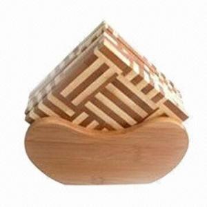 China Cork Coaster, Made of Bamboo wholesale