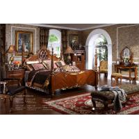 China 2016 European antique reproduction Wood Bedroom Set / Wooden Furniture wholesale