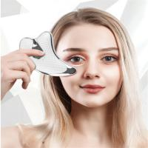 China Massage Guasha Plate, Electric Gua Sha Tools Face Scraping Massager Micro Current Vibration Facial Lift LED Light Anti-a on sale