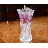 China Lead Free Galle Glass Vase Machine Made Diamond Designer House KTV Hotel wholesale