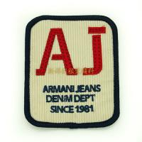 China Iron On Garment Vintage Embroidered Patches , Personalised Embroidered Badges wholesale