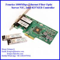 China 1000Mbps Dual Port SFP Slot PCI Express x4 Server Network Adapter (Intel 82576 Chipset) wholesale
