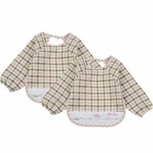 China Soft Absorbent Baby Bandana Bib , 100% Organic Cotton Baby Coverall Bib wholesale