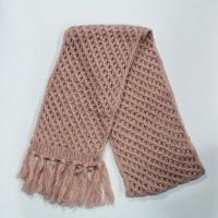 Buy cheap mohair yarns knitting scarf with rulex, with tassels from wholesalers