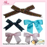 China Personalized Pre tied Ribbon Bows For Greeting Card , premade christmas bows 7cm wholesale