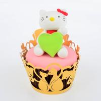 Reusable Animal Shaped Cupcake Wrappers For Weddings Cake Decorating 82mm * 51mm