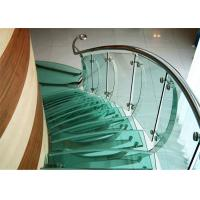 Swimming Pool Bent Tempered Glass , Size Customized Curved Toughened Glass