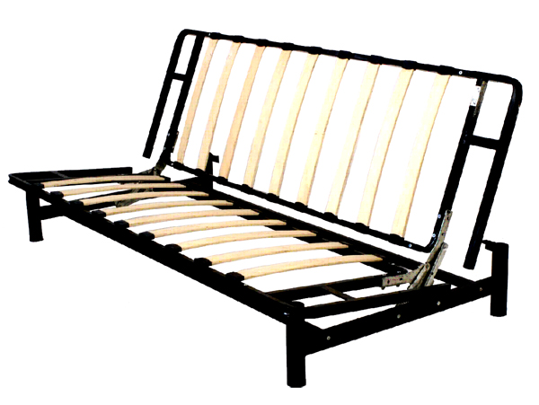 Bi fold metal futon sofa bed frame futon bi fold metal for Folding futon bed frame