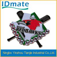 China Custom Metal Conference Name Badge Holders 50x48mm With Led And Pin 30399 on sale