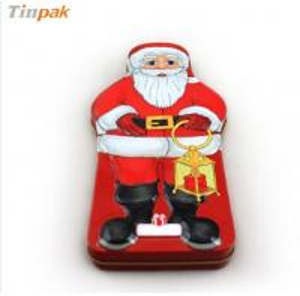 China Merry Christmas Santa Claus decoration tin box on sale