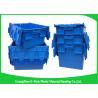 China El plástico reciclable 60L ató el azul de los envases de la tapa modificado para requisitos particulares para la agricultura wholesale