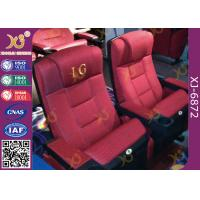 China Cinema Theatre Furniture Lounge Back Folding Up Chairs With Spring Seat wholesale