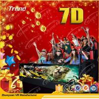 China Movable Digital Control 7D Movie Theater 4 Seats / 6 Seats With Hydraulic System wholesale