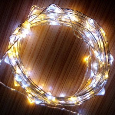 christmas led lights starry copper wire lights