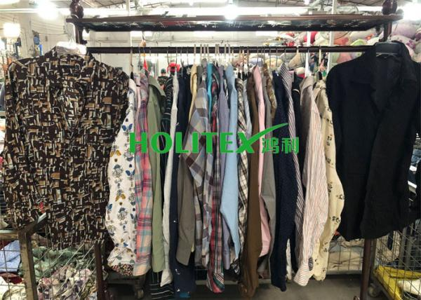 Quality Popular Mens Used Clothing Cotton Material Second Hand Mens Shirts Long Sleeves for sale