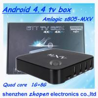 China best quality android smart tv box s805 mxv/mxq/mx pro in stock wholesale