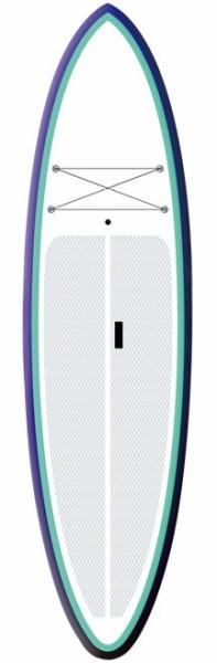 Quality Surfing / Racing Inflatable Stand Up Paddle Board 15PSI Firberglass Plate Design for sale