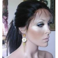China Curly human hair lace wig high density on sale